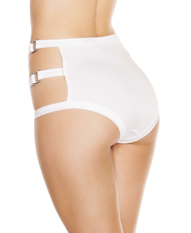 High-Waisted Shorts w/ Triple Strap & Square Ring Detail