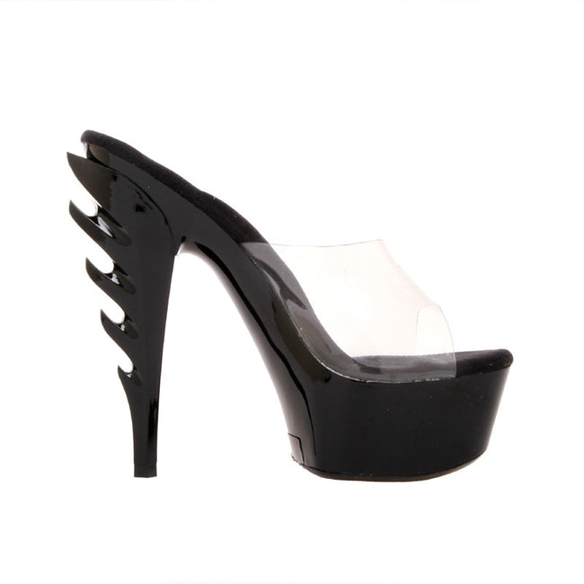 "6"" Highest Heel Exlcusive Mule With ""Ignited"" Flame Heel"