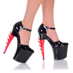 "7 1/2"" Closed Toe Platform With Exclusive Inferno Heel"