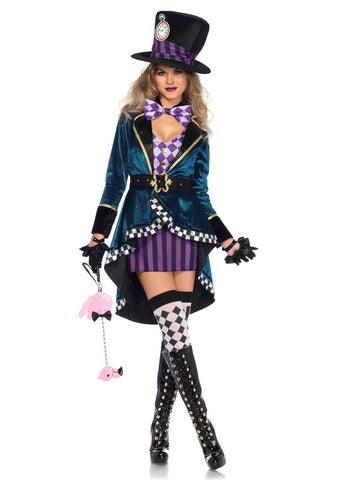 Leg Avenue Female 5 PC. Delightful Hatter Costume 85592
