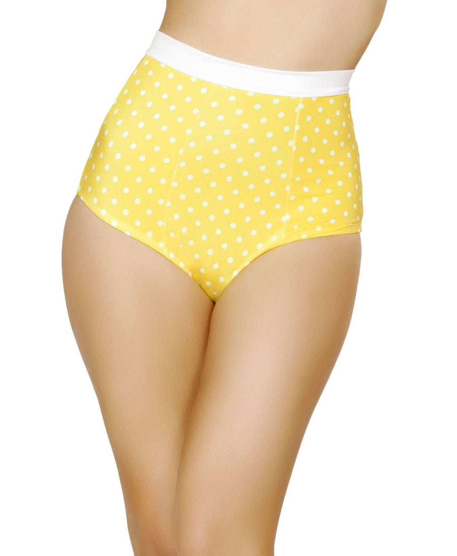 Pinup Style High-Waisted Banded Shorts