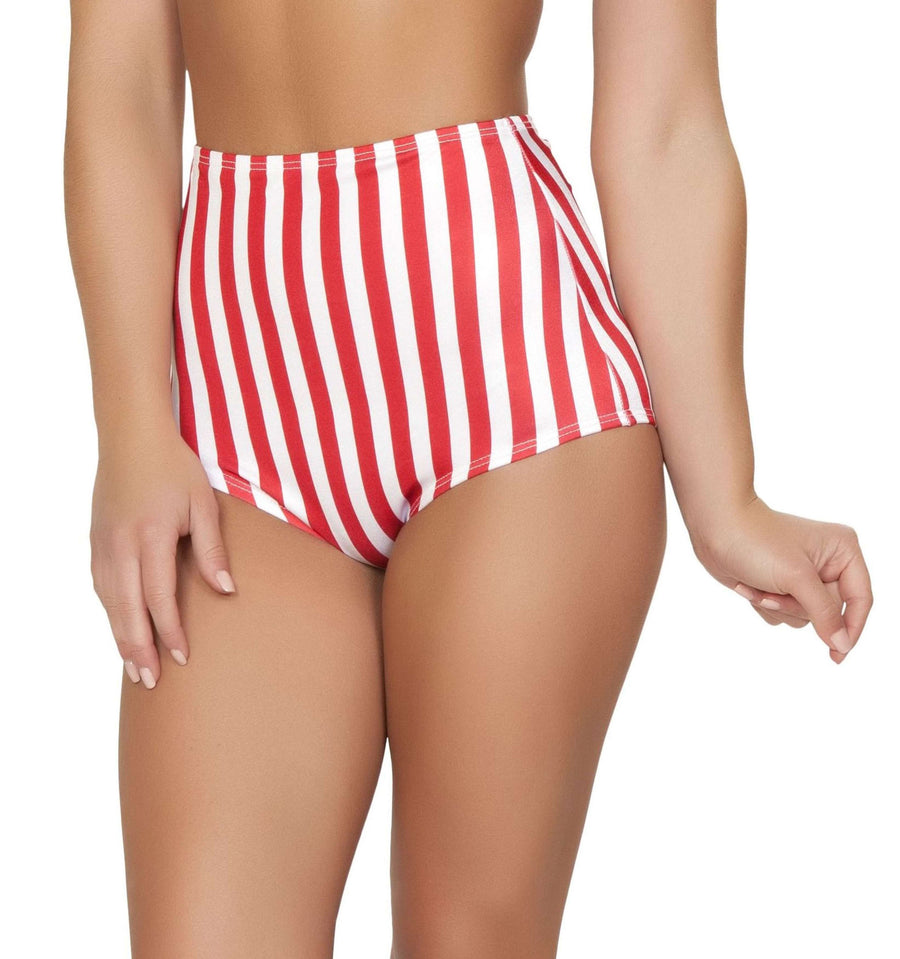 Pinup Style High-Waisted Shorts - American Flag