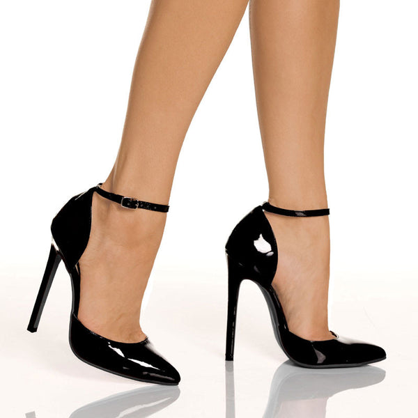 "5""1/4""D'Orsay Heel-Black Patent PU-SINFUL"