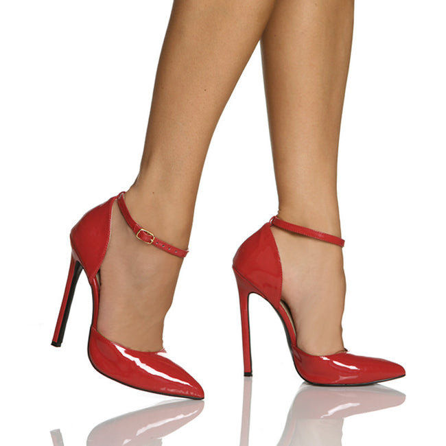 "5""1/4""D'Orsay Heel-Red Patent PU -SINFUL"