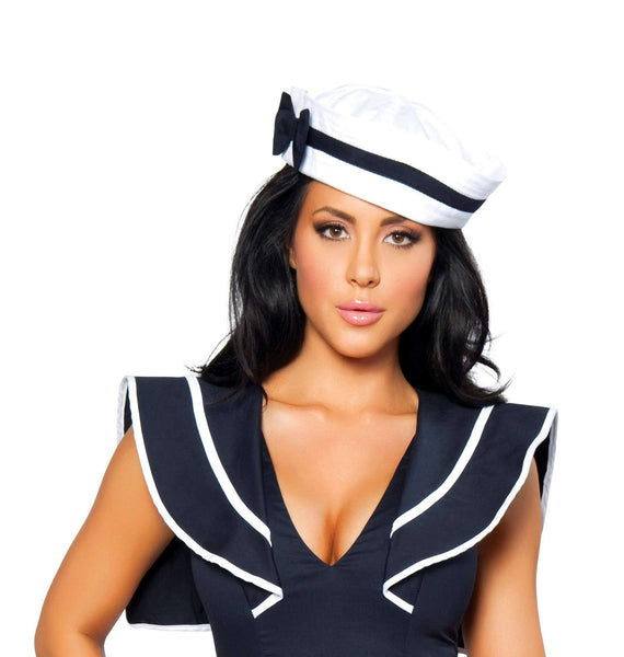 Sailor Hat with Blue Bow