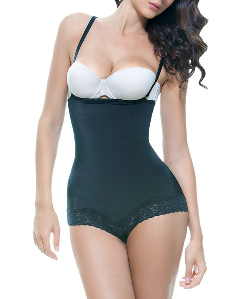 Scarlett Strapless Shapewear Body w/ Lace Trim