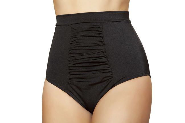 Scrunch Front Shorts w/Band - Black