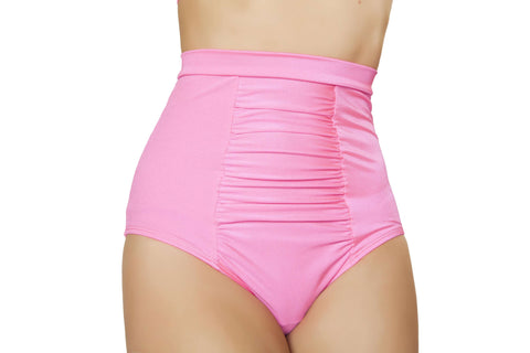 Scrunch Front Shorts w/Band - Hot Pink