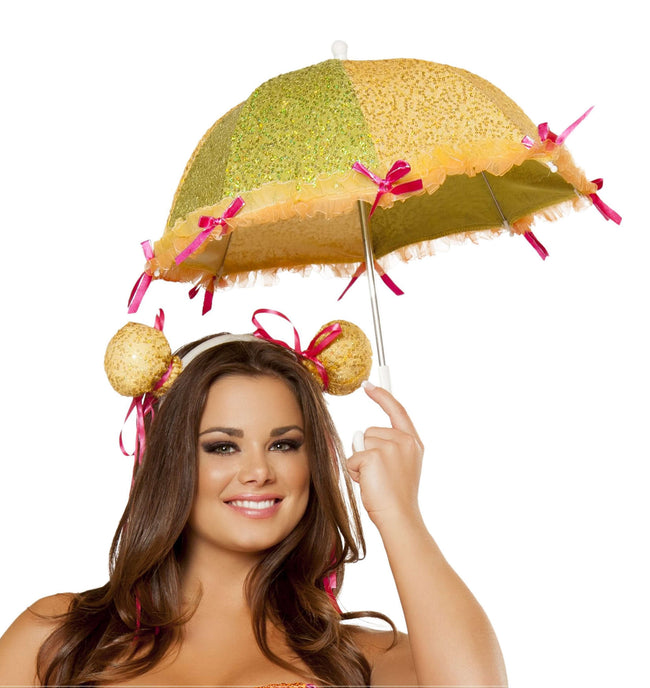 Sequin Umbrella & Headpiece
