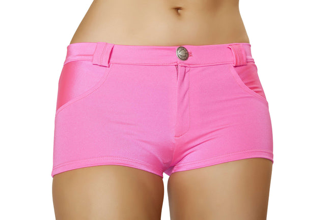 Shorts with Pocket Detail - Hot Pink
