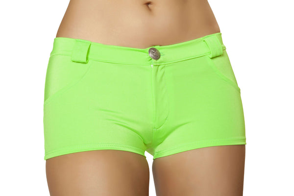 Shorts with Pocket Detail - Lime