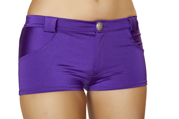 Shorts with Pocket Detail - Purple