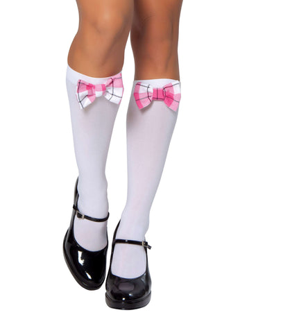 Stockings with Argyle Bow