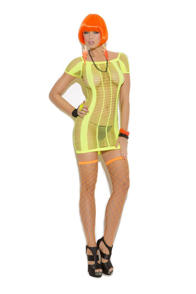 Strappy mini dress  Chartreuse One Size