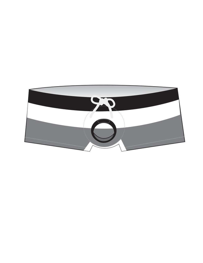 Striped Squarecut with Cock Ring