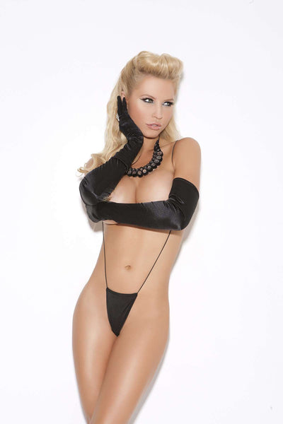 Suspender thong Black One Size