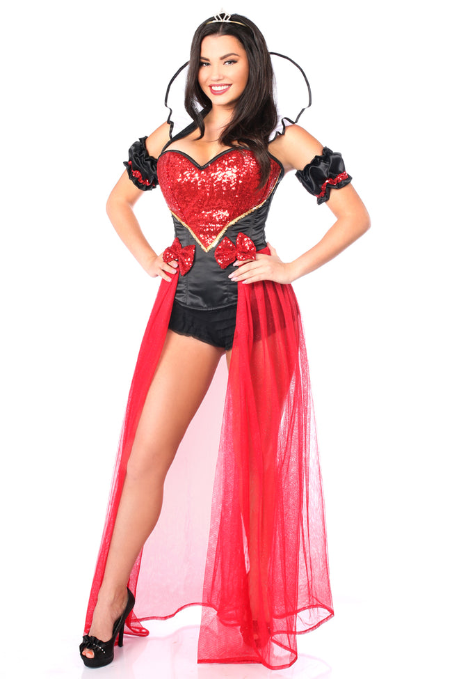 Daisy Corsets Female 6 PC Sexy Fairytale Red Queen Costume TD-981