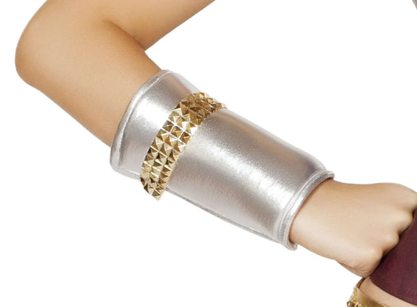 Wrist Cuffs w/Gold Trim Detail-As