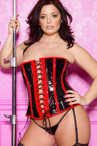 Plus Size Vinyl Corset - Fashion