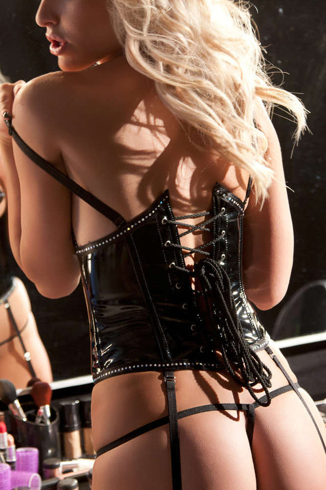 Vinyl Corset - Females Fashion