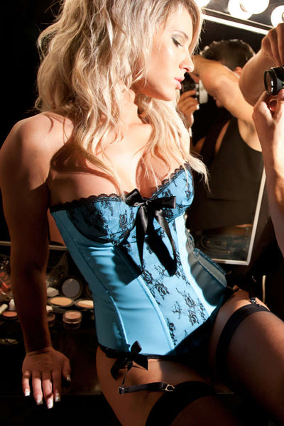 Soft Touch Vinyl Rosie Corset - Fashion