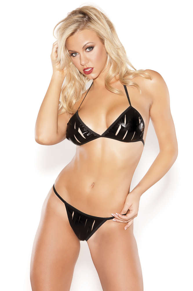 Kitten Bra And G-String Set - Fashion