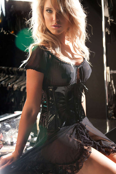 Vinyl And Mesh Barmaid Dress - Fashion