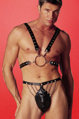 Men S Leather 1 2 Harness - Fashion