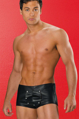 Leather Shorts Men - Fashion