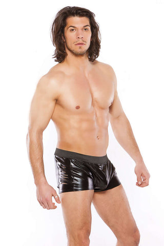 Zeus Men S Wetlook Slashed Shorts - Fashion