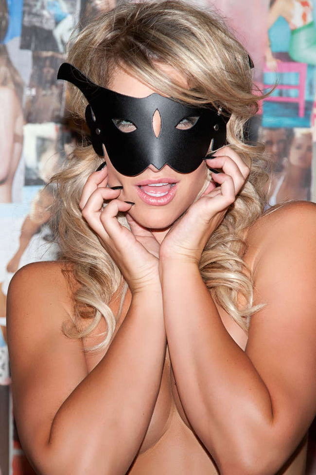 Leather Cat Mask - Fashion