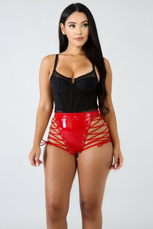 Barbie Corset Shorts RED