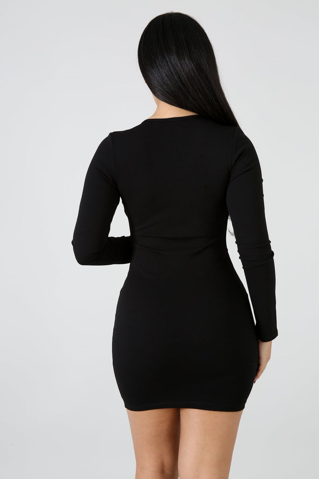 Closing Night Mini Dress BLACK