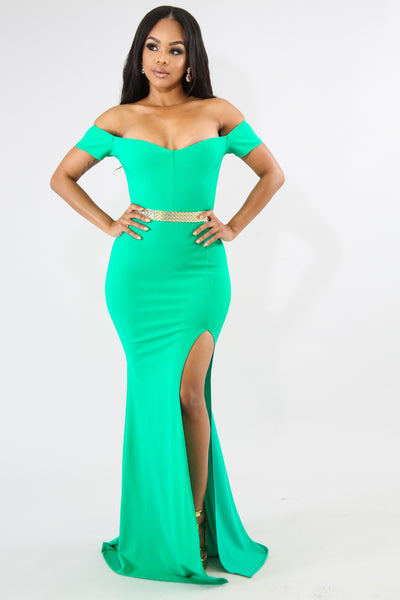 Dainty Maxi Mermaid Dress GREEN