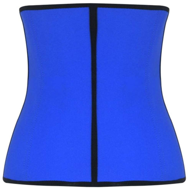 Plus Size Blue Steel Boned Latex Shaper Waist Training Corset - Females Fashion