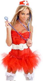 Plus Size 7 PC Naughty Nurse Costume - Fashion