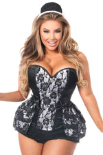 5 PC French Maid Corset Costume - Fashion