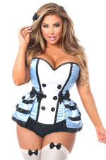 4 PC Flirty Alice Corset Costume - Fashion