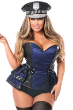 5 PC Officer Frisky Corset Costume - Fashion