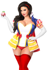 5 PC Snow Princess Corset Costume - Fashion