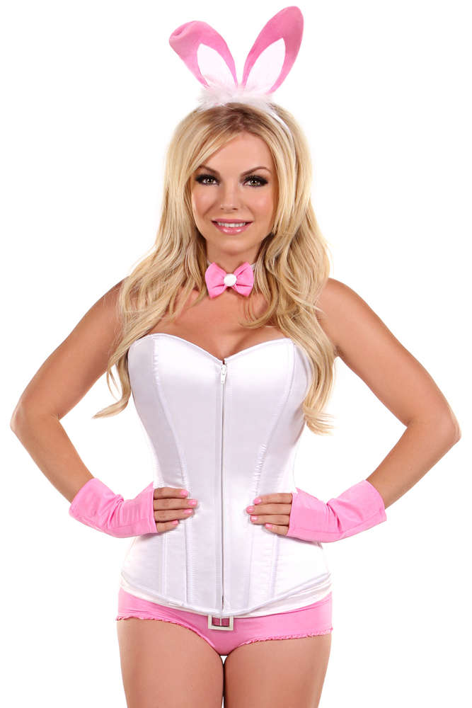 Plus Size  5 PC Pink Bunny Costume - Fashion