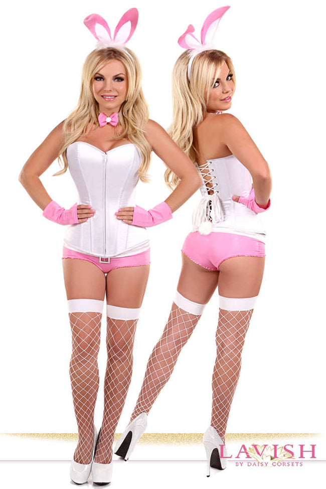 Plus Size  5 PC Pink Bunny Costume - Females Fashion