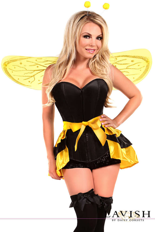 4 PC Queen Bee Costume - Fashion
