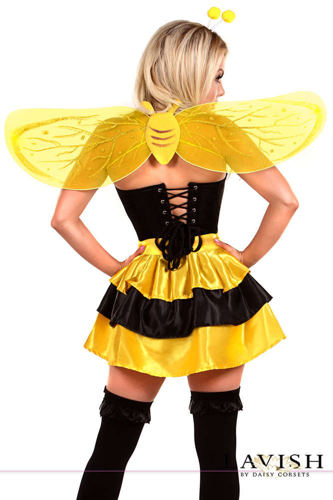 4 PC Queen Bee Costume - Females Fashion