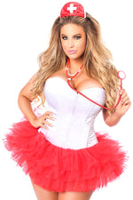 Plus Size  Flirty Nurse Corset Costume - Fashion