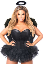 Flirty Dark Angel Corset Costume - Fashion