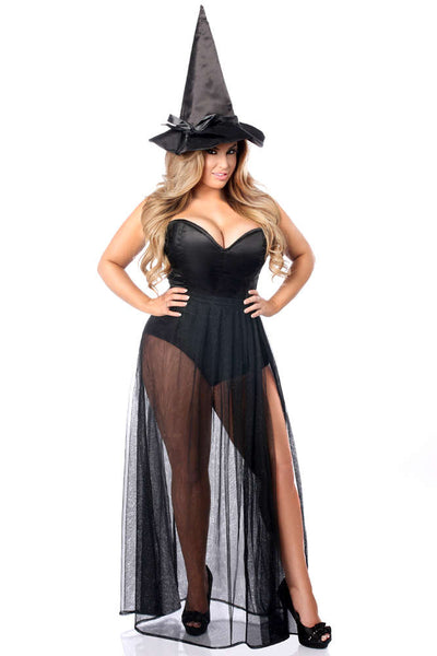 3 PC Evil Witch Corset Costume - Fashion
