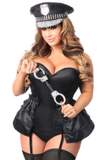 4 PC Rhinestone Cop Corset Costume - Fashion