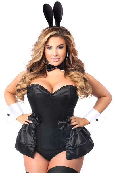 Plus Size  5 PC Formal Tuxedo Bunny Corset Costume - Fashion