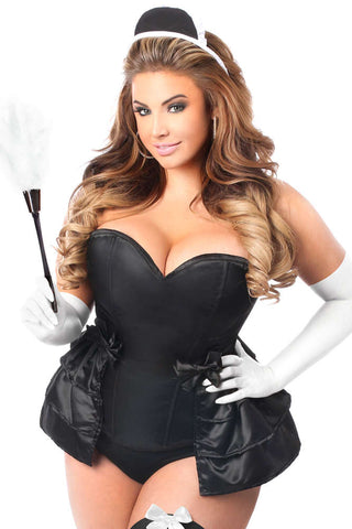 5 PC Frisky French Maid Corset Costume - Fashion